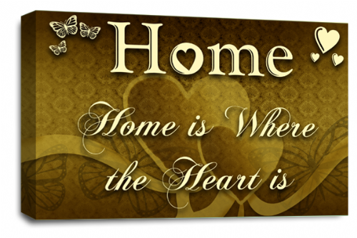Home Quote Wall Art Picture Brown Cream Love Print